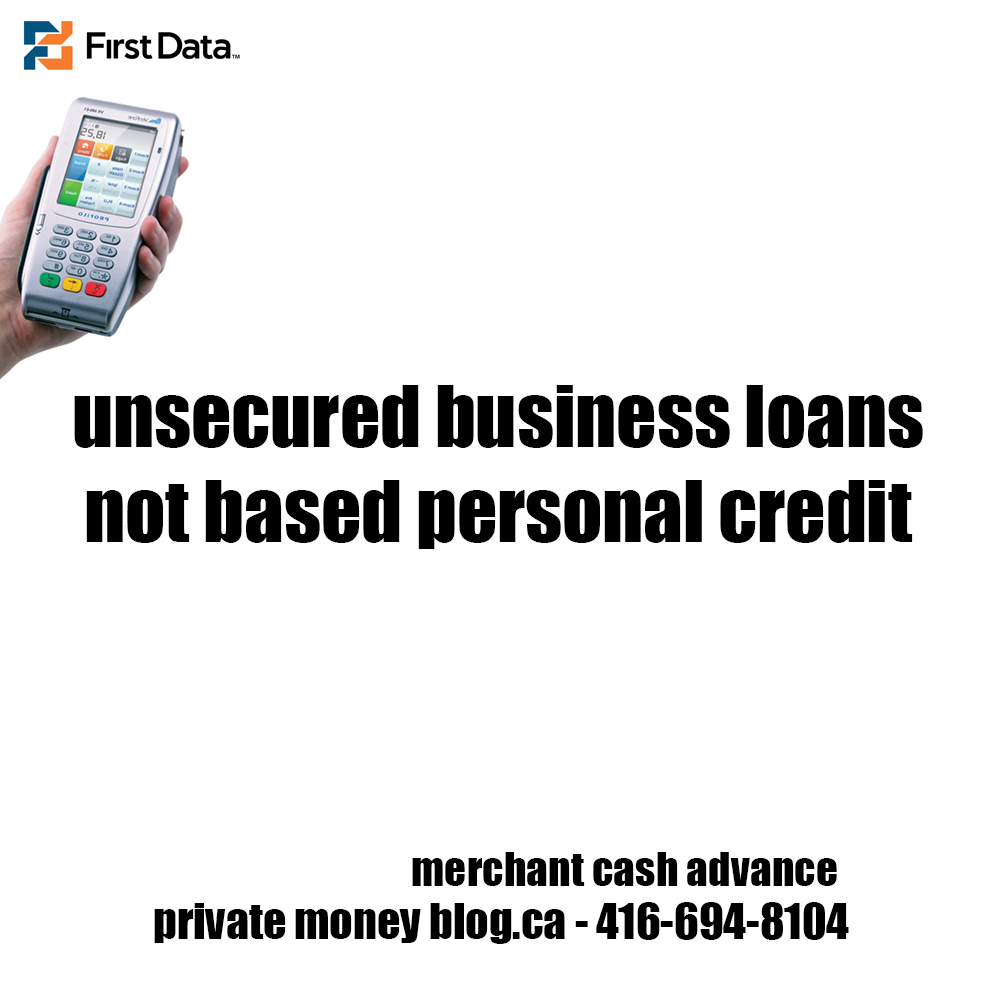 unsecured business loans not based personal credit